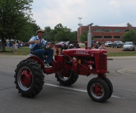parade tiny tractor!