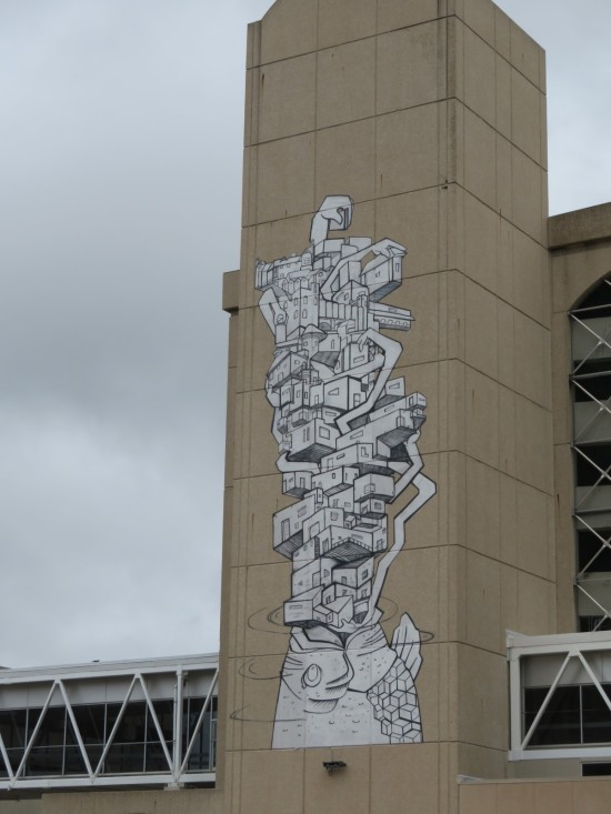 parking garage column art!