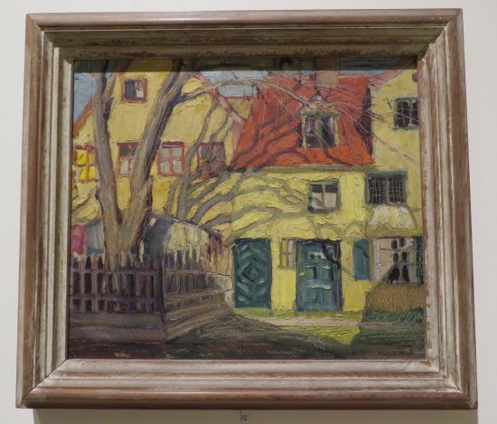 Grant Wood, Red and Yellow House in Munich.