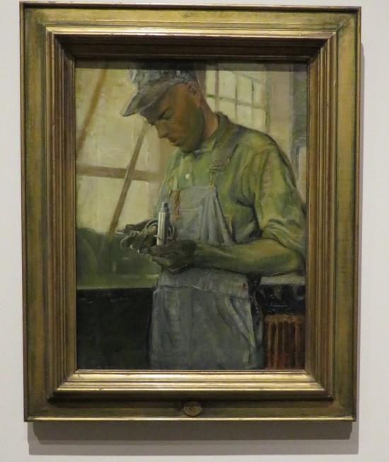 Grant Wood's Shop Inspector.