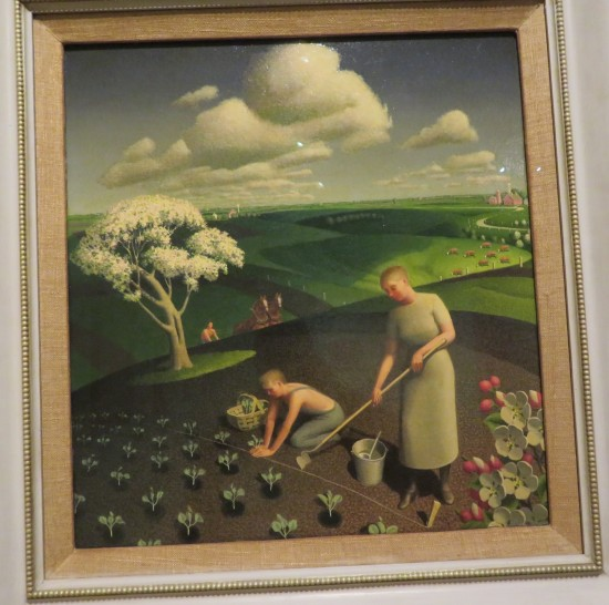 Grant Wood, Spring in the Country.