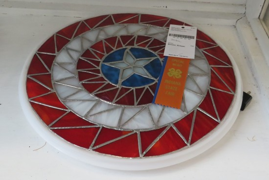 stained glass Captain America shield!