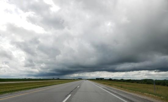Iowa storm clouds.