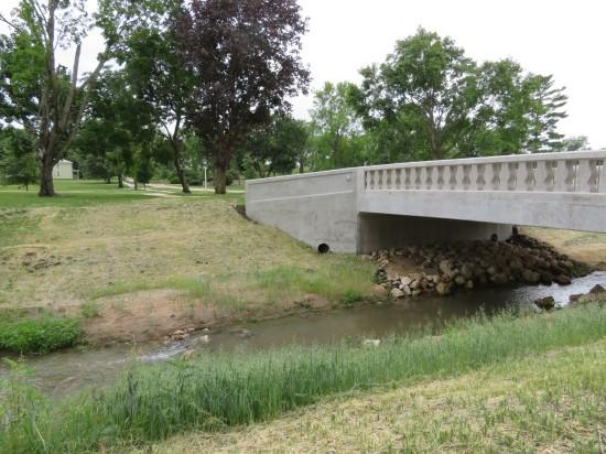 Iowa stream and bridge!