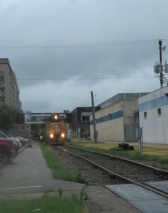 Iowa train stopped.