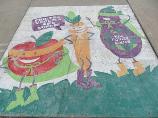 veggie sidewalk chalk!