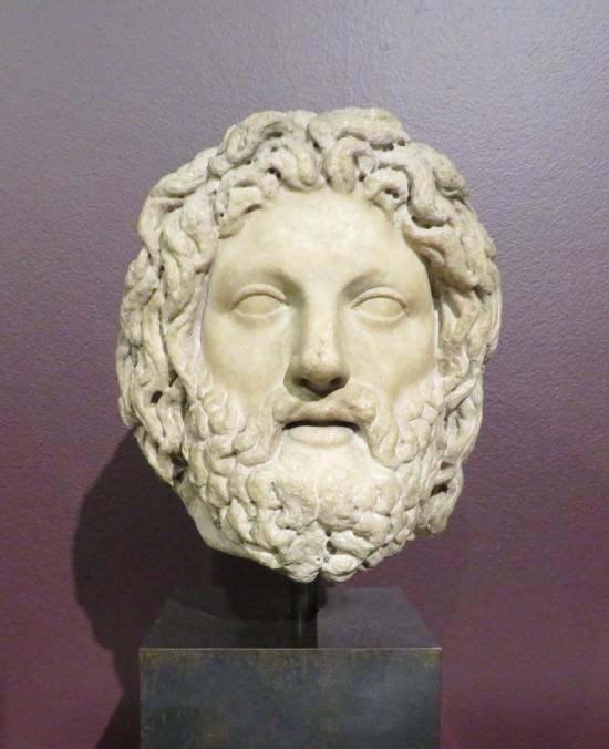 Zeus sculpture.