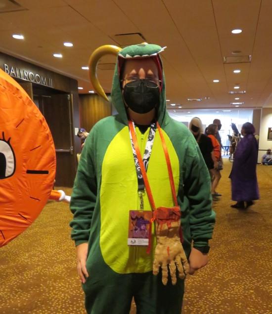 Alligator Loki cosplay!
