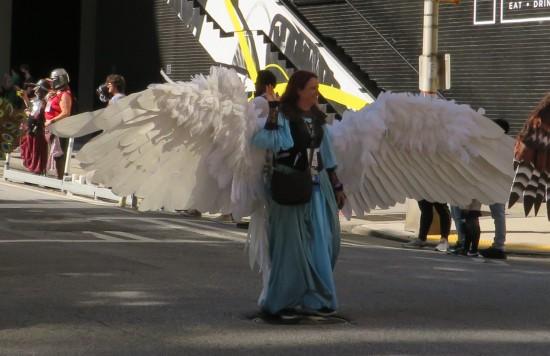 angel wings cosplay!