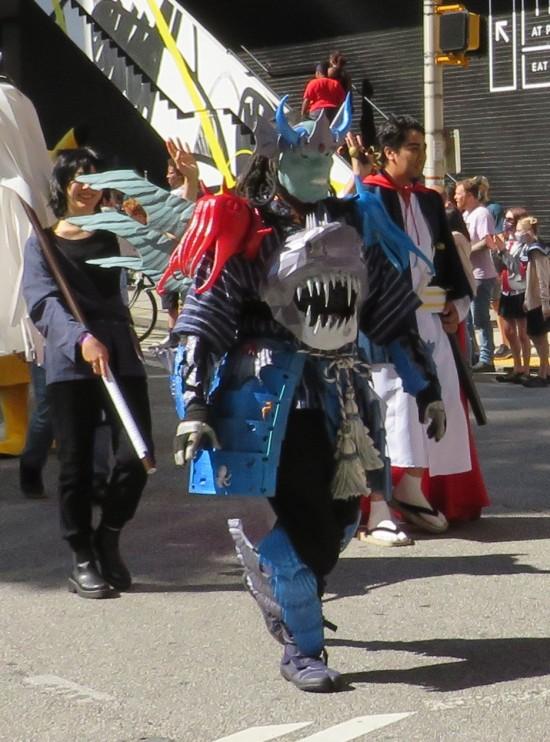 anime shark armor cosplay!