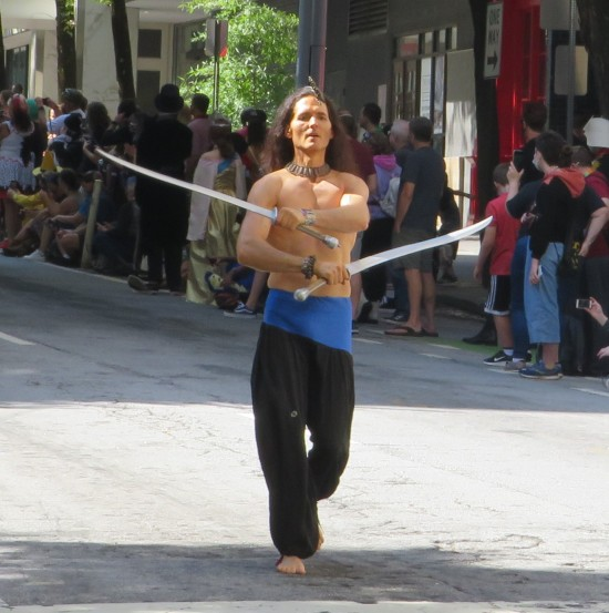 balancing swordsman!