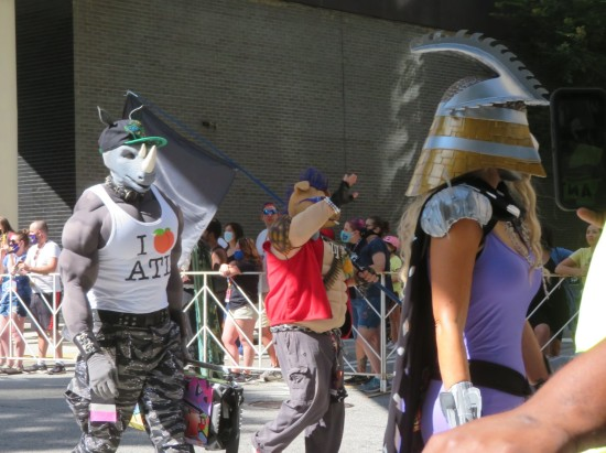 Bebop and Rocksteady and Shredder cosplay!