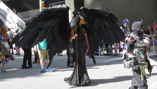 Black winged cosplay!