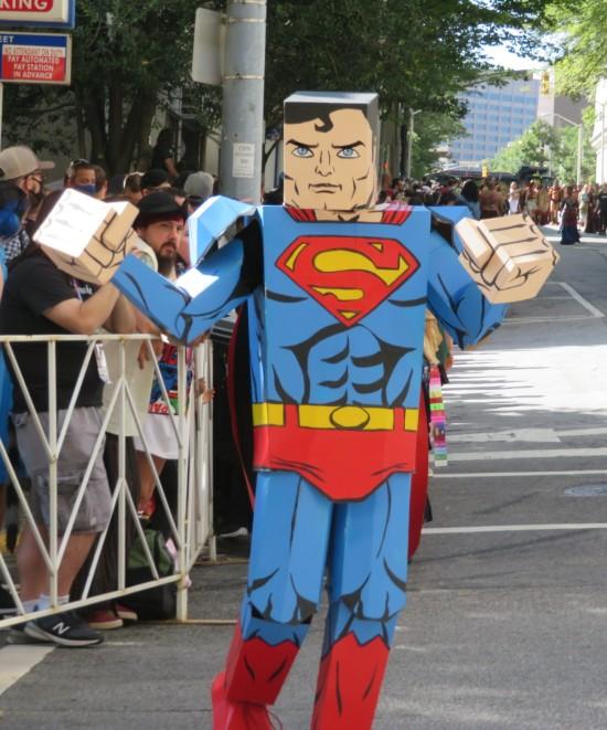 blocky Superman cosplay!