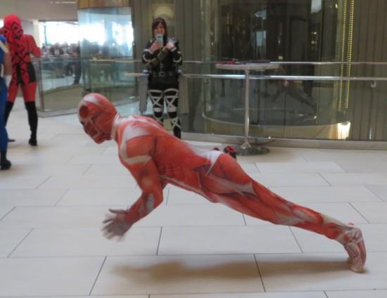 Colossal Titan cosplayer!