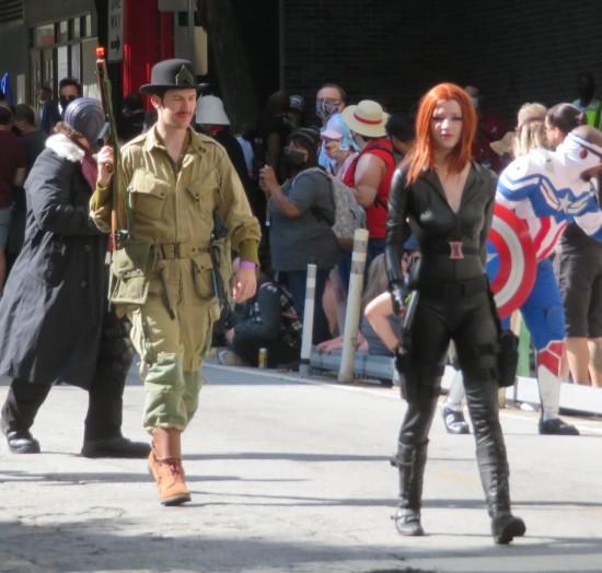 Dum-Dum Dugan and Black Widow cosplay!