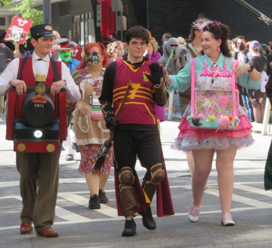Hogwarts Express, Quidditch Harry, and Honeydukes cosplay!