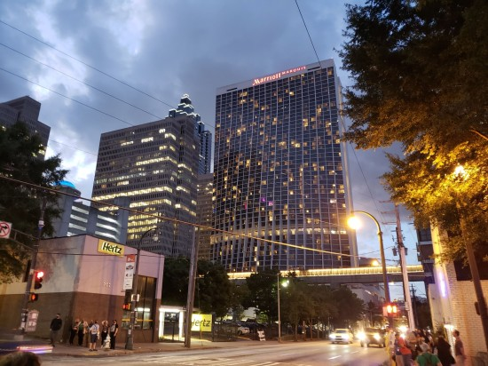 Hyatt and Marriott, downtown Atlanta.
