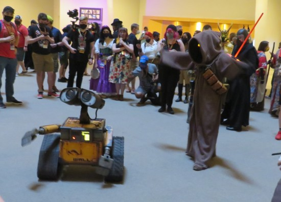 Jawa costume and WALL-E!