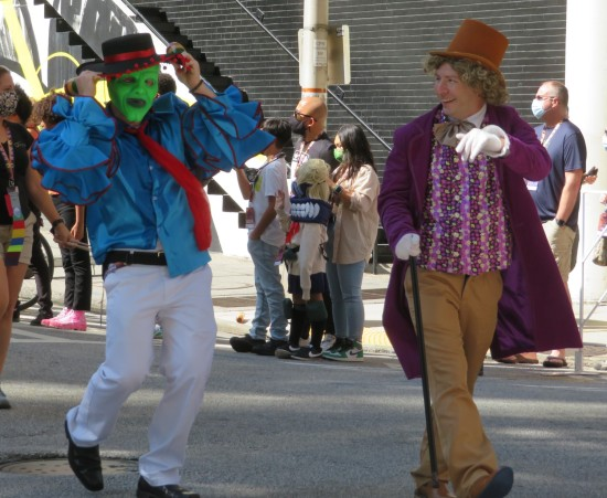 Mask and Willy Wonka cosplay!