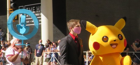 Pikachu and Pokestop cosplay!