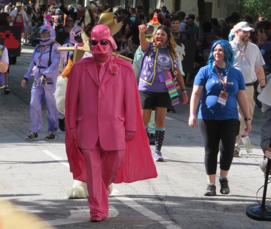 Pink Vader cosplay!