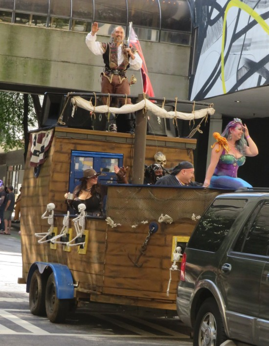 pirate ship cosplay!