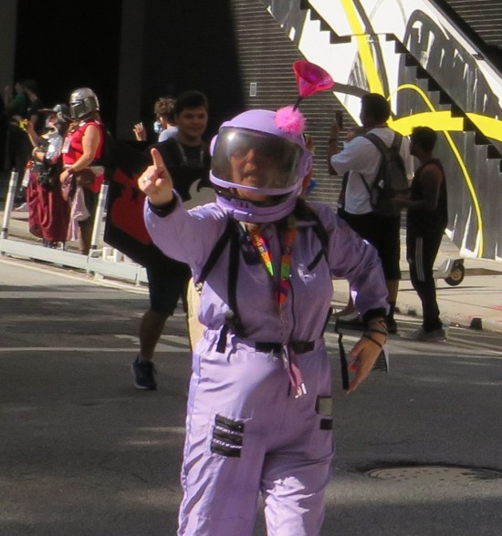purple astronaut cosplay!