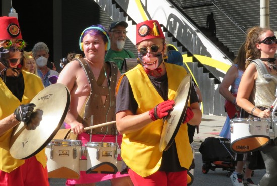 Seed and Feed Marching Abominable percussion!