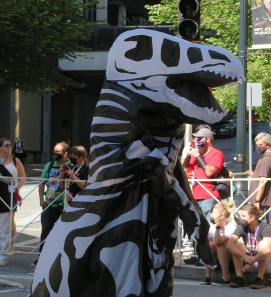 T-Rex skeleton cosplay!