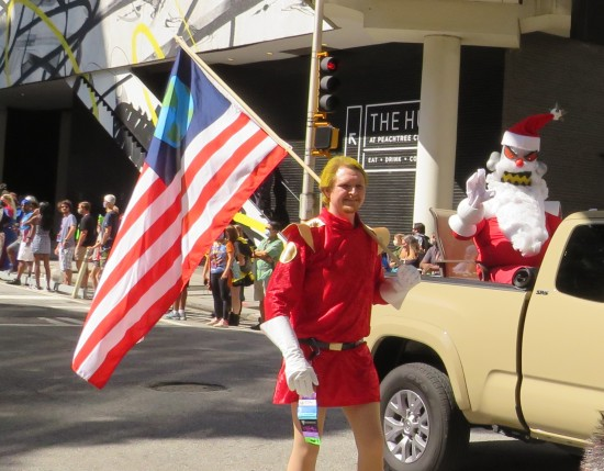 Zapp Brannigan and Robot Santa cosplay!