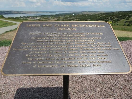 Lewis and Clark bicentennial marker!
